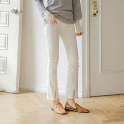 JUSTONE - Slit-Hem Boot-Cut Pants