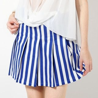 YesStyle Z - Stripe Skirt with Belt
