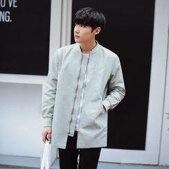 MEING - 純色拉鏈外套