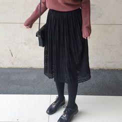 Dute - Lace Midi Skirt
