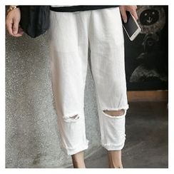 Soulcity - Knee Ripped Straight Cut Jeans