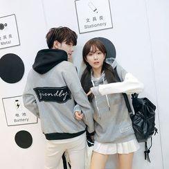 INUS - Couple Matching Panel Hoodie