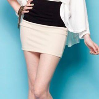 I-DOU - Two-Tone Miniskirt