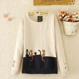 JVL - Cat Appliqué Sweater