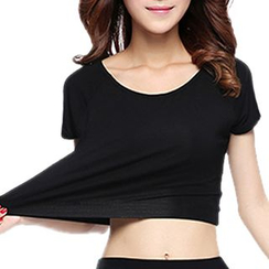 Grainie - Cropped Short-Sleeve T-Shirt