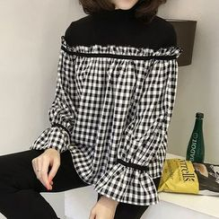 Little V - Long-Sleeve Mock Two Piece Blouse