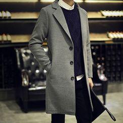 Seoul Boy - 平驳领单排扣长款外套