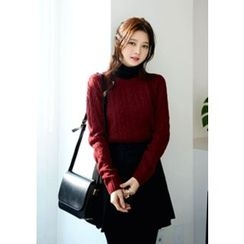 DEEPNY - Round-Neck Cable Knit Sweater
