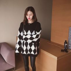 Cocofield - Argyle Knit Top