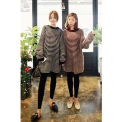 Momnuri - Maternity Stripe Oversized Sweater