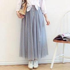 Porta - Mesh Midi Skirt