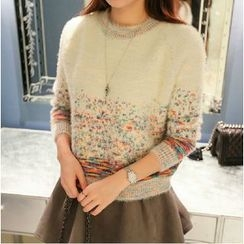 Quelite - Melange Mohair Knit Top