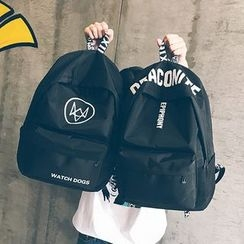 Youme - Letter Canvas Backpack