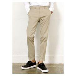 HOTBOOM - Cotton Slim-Fit Pants