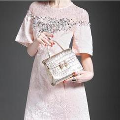 Alaroo - Lace Yoke Embellished Shift Dress