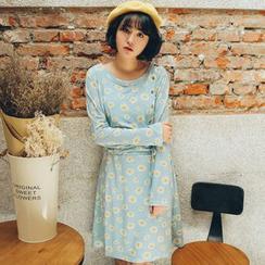 11.STREET - Long-Sleeve Floral Dress