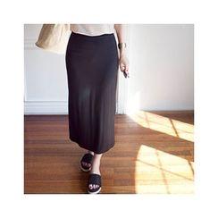 MASoeur - Band-Waist Slit-Side Skirt