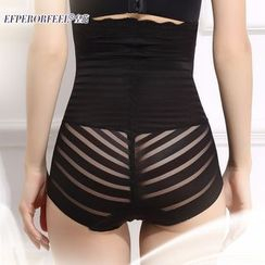 Fair Lady - Lace Trim High Waist Shaping Panties