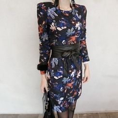 Aurora - Long-Sleeve Printed Dress