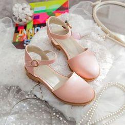 Pastel Pairs - Block Heel Ankle Strap Pumps