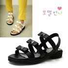 MODELSIS - Genuine Leather Slingback Sandals