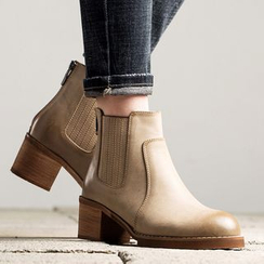 MIAOLV - Chunky Heel Ankle Boots