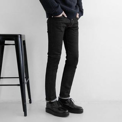 Seoul Homme - Brushed-Fleece Lined Jeans