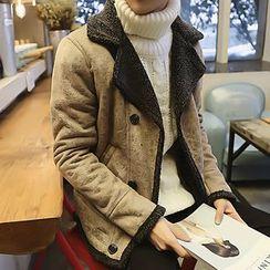 Eight Degrees - Faux Leather Fleece Jacket