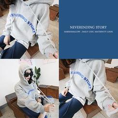 MARSHMALLOW - Hooded Lettering Sweatshirt