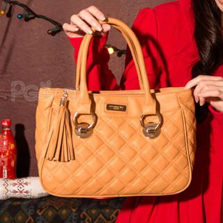 PG Beauty - Tasseled Quilted Satchel