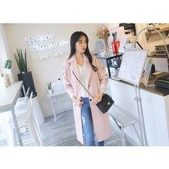 Envy Look - Epaulette Single-Breasted Coat