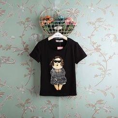 Kidora - 小童短袖亮片印花T恤