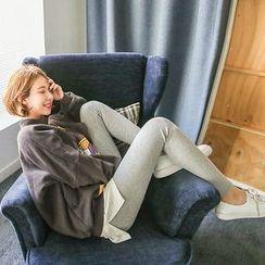 Seoul Fashion - Brushed-Fleece Leggings