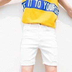 蔡先生 - 修身做舊短褲