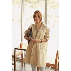 Momnuri - Maternity Stand-Collar Cotton Parka