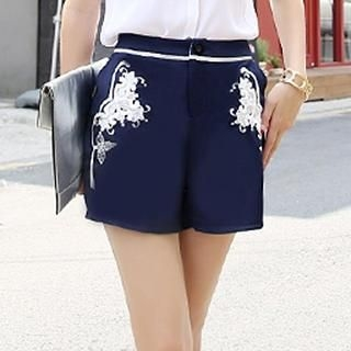 HStyle - Embroidered Shorts