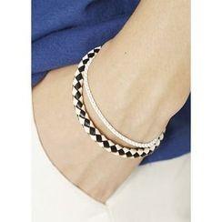 JOGUNSHOP - Woven Faux-Leather Bracelet