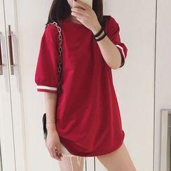Fashion Street - 條紋中袖T恤