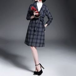 Alaroo - Plaid Wool Blend Coat