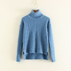Mushi - Cable-Knit Turtleneck Sweater