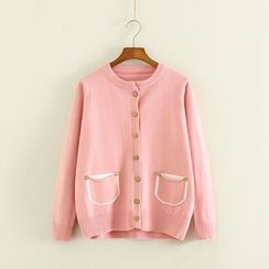 Mushi - Pocketed Cardigan