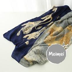 Meimei - 印花轻薄围巾
