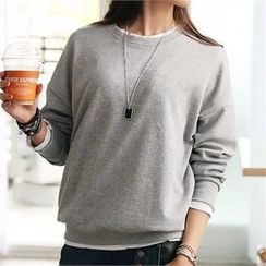 CHICFOX - Long-Sleeve Colored Pullover