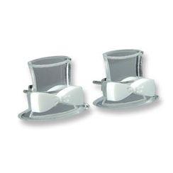 Sweet & Co. - Sweet Mirror White Hatter Ribbon Stud Earrings