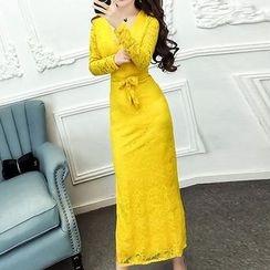 ZAPPA - V-Neck Maxi Lace Dress