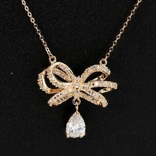 Supermary - Rhinestone Jeweled Necklace
