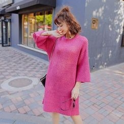 Tang House - 3/4-Sleeve Knit Dress