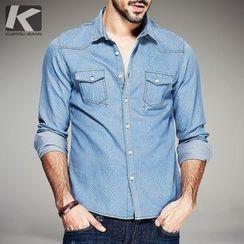 Quincy King - Patterned Denim Shirt