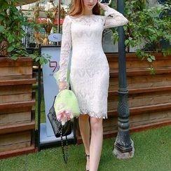 雅典娜 - 長袖蕾絲連衣裙