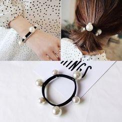 Amedama - Faux Pearl Hair Tie